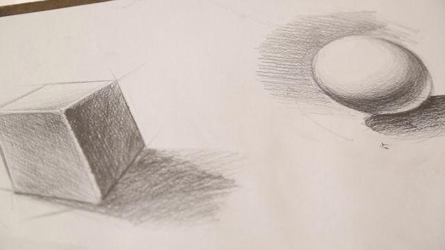 Karakalemde Geometrik şekiller Nasıl Gölgelendirilir Videolu